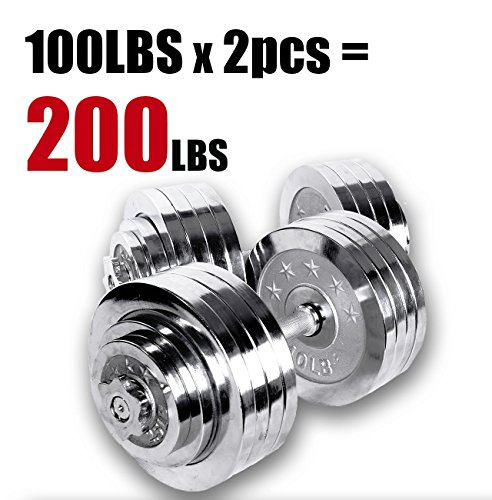 6edf863e279 The Starring 65 105 200 Lbs.Dumbbells provides a more compact alternative  to the usual set of different-weighted dumbbells. These gym-quality  dumbbells are ...